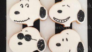 スヌーピーのサンキューギフト用アイシングクッキー