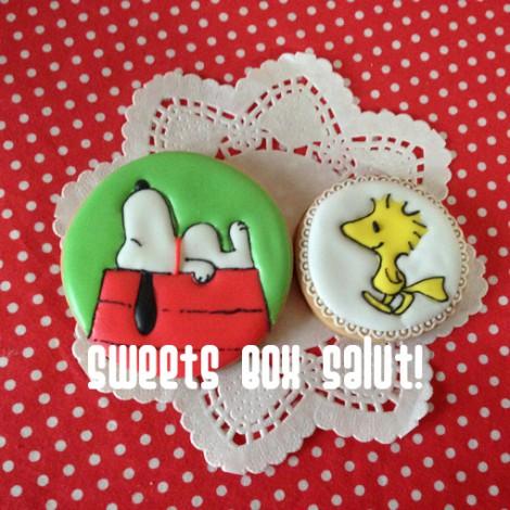 スヌーピーのアイシングクッキー5