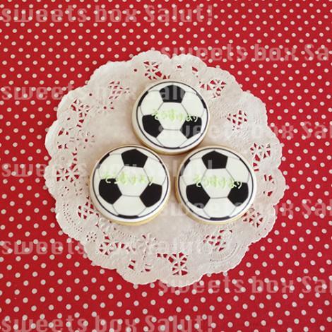 サッカーチームのプチギフト用プリントアイシングクッキー2