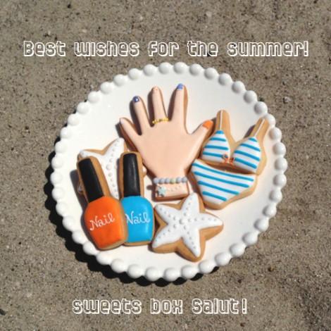 【夏期休暇のお知らせ】夏満喫!アイシングクッキー