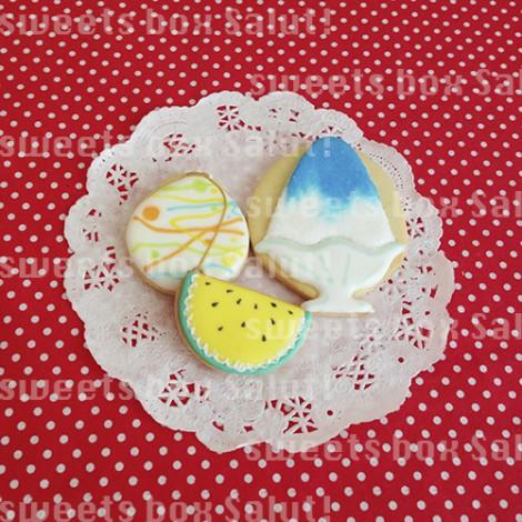 夏を楽しむアイシングクッキー2