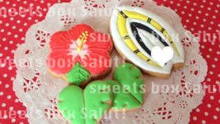サーフボードのアイシングクッキー
