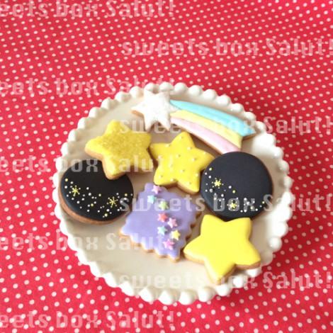 七夕にお星さまのアイシングクッキー1