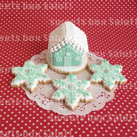 ティファニーなクリスマスアイシングクッキー2