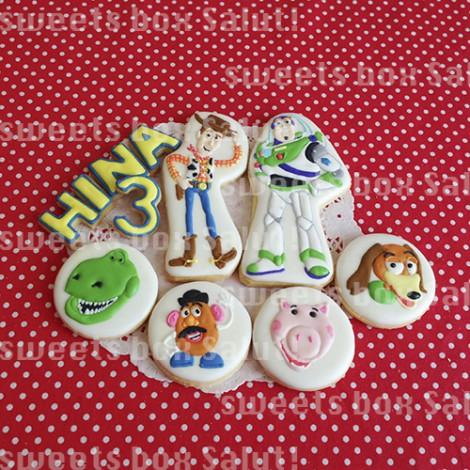 トイストーリーのお誕生日用アイシングクッキー