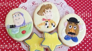 「トイストーリー」キャラクターアイシングクッキー