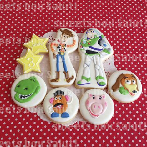 トイストーリーのお誕生日用アイシングクッキー1
