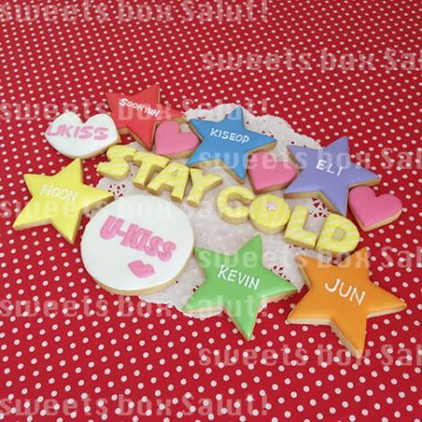 U-KISSへプレゼント用アイシングクッキー1