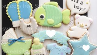 男の子の内祝い用アイシングクッキー