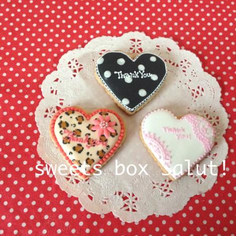 バレンタイン用個性豊かなアイシングクッキー4