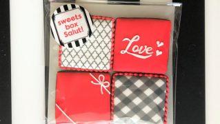【販売終了】在庫限り・バレンタイン□スクエア□アイシングクッキーセット2021