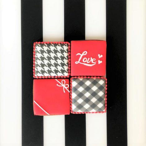 【販売終了】在庫限り・バレンタイン□スクエア□アイシングクッキーセット20214