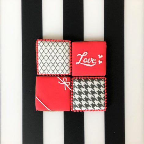 【販売終了】在庫限り・バレンタイン□スクエア□アイシングクッキーセット20213