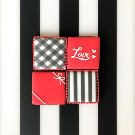 【販売終了】在庫限り・バレンタイン□スクエア□アイシングクッキーセット20215