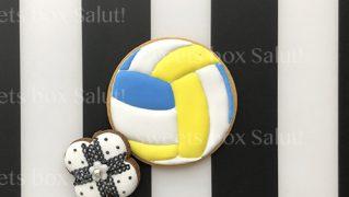 バレーボールのアイシングクッキー