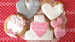 結婚お祝いのアイシングクッキー