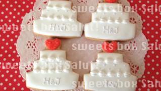 結婚式サンキューギフトのアイシングクッキー