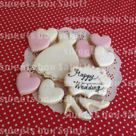 結婚祝いにフォトフレーム風プリントアイシングクッキー2