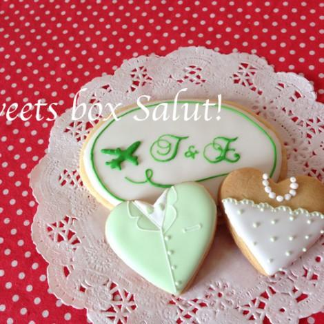 結婚式プチギフトのアイシングクッキー4