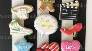 結婚記念日のアイシングクッキー