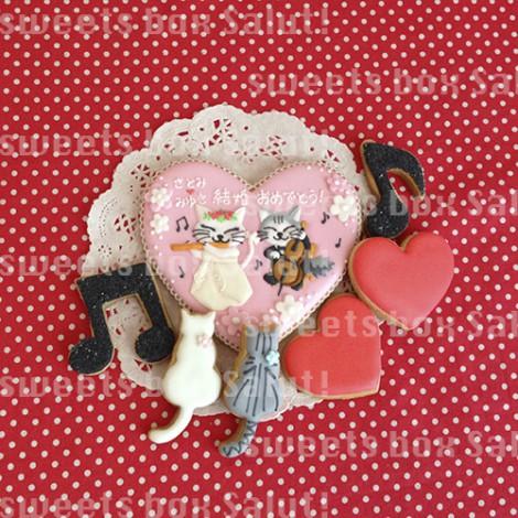 結婚お祝いにオリジナルイラストのアイシングクッキー