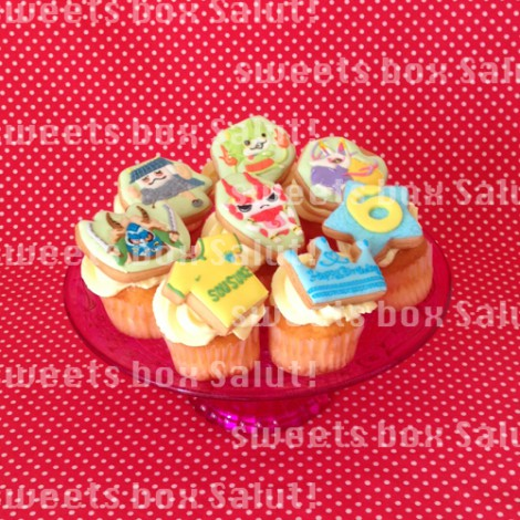 「妖怪ウォッチ」お気に入りキャラのアイシングカップケーキ2