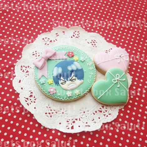 「弱虫ペダル」キャラのお誕生日用アイシングクッキー1