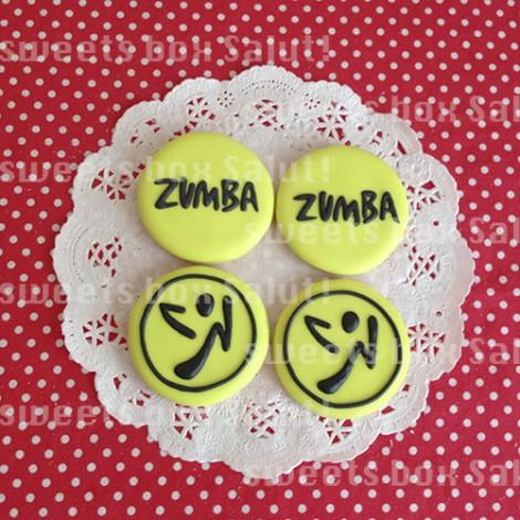 人気ダンスフィットネス「ZUMBA」ロゴのアイシングクッキー